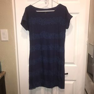 Tommy Bahama Cotton Dress Embroidered Navy Blue